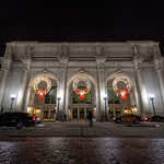 Christmas Wreaths at Union Station in DC