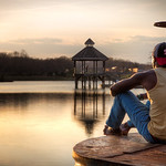 "I spotted a young man enjoying the sunset at Lake Artemesia in College Park and had to ask him for a photo.<br /> <br />  <a href=""http://ihitthebutton.com/sunset-at-lake-artemesia/"">http://ihitthebutton.com/sunset-at-lake-artemesia/</a>"
