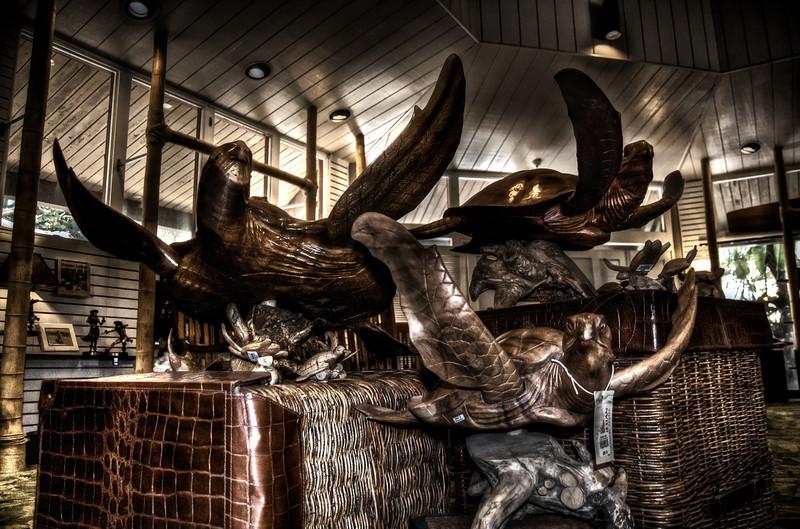 Honu in the Gift Shop:<br /> Polynesian Cultural Center<br /> O'ahu, Hawai'i 2011