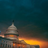 Storm Clouds over the US Capitol