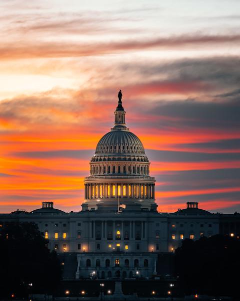 United States Capitol Sunrise