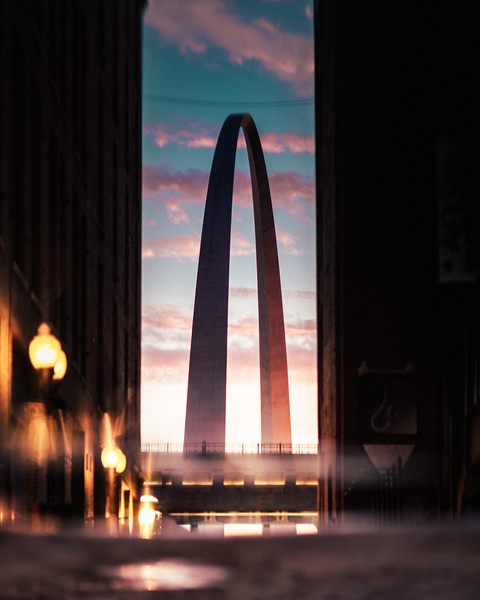 St Louis Arch Reflection