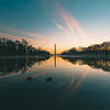 Sunrise at the Reflecting Pool in Washington DC
