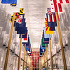 Right before midnight I captured the Hall of States Flags at the Kennedy Center in DC, good thing for automatic doors and lack of security.