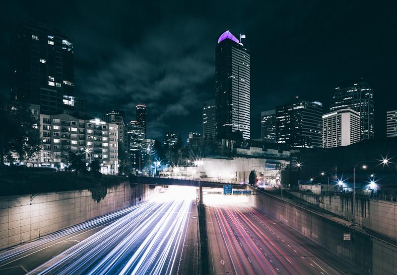Seattle Overpass Long Exposure