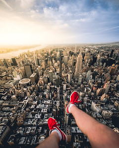 Feet Dangling Over Manhattan