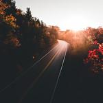 Acadia Sunset Road