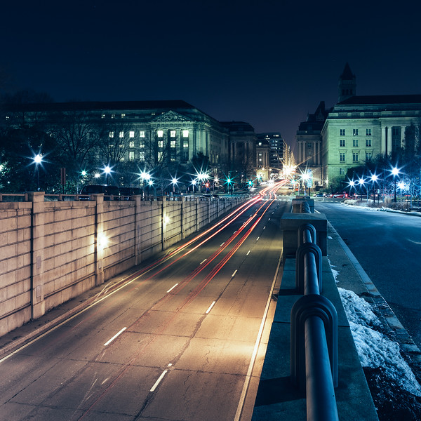 DC Highway Light Trails at Night