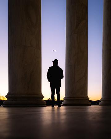Jefferson Memorial Sunset Silhouette