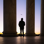 Jefferson Memorial Sunset Silhouette