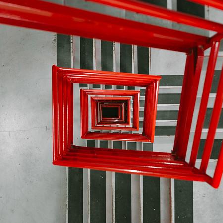 Red Boston Stairwell