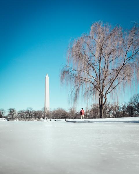 Icy Washington Monument