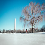 Icy Washington Monument