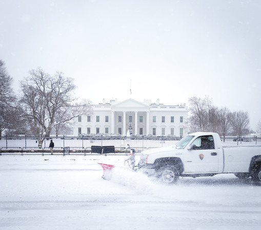White House in Snowstorm