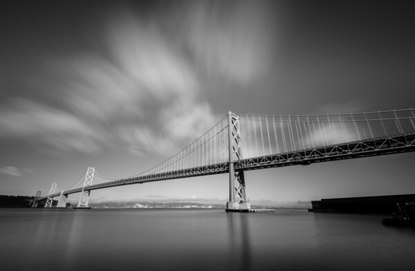 San Francisco Bay Bridge B&W