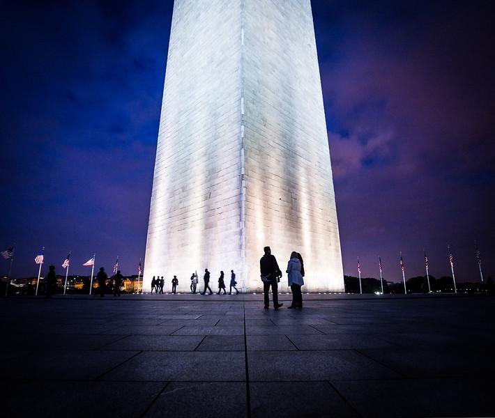Purple Sky Washington Monument