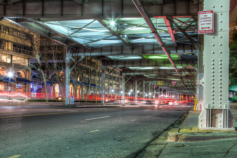 On a photo walk I found this great road under a bridge in Georgetown