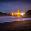 Golden Gate Bridge Reflection at Baker Beach