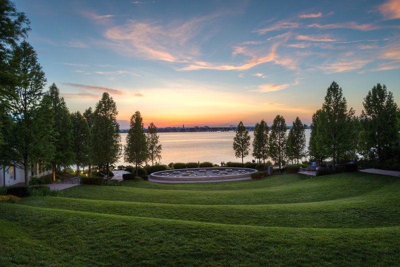 Sunset over Rolling Hills at National Harbor
