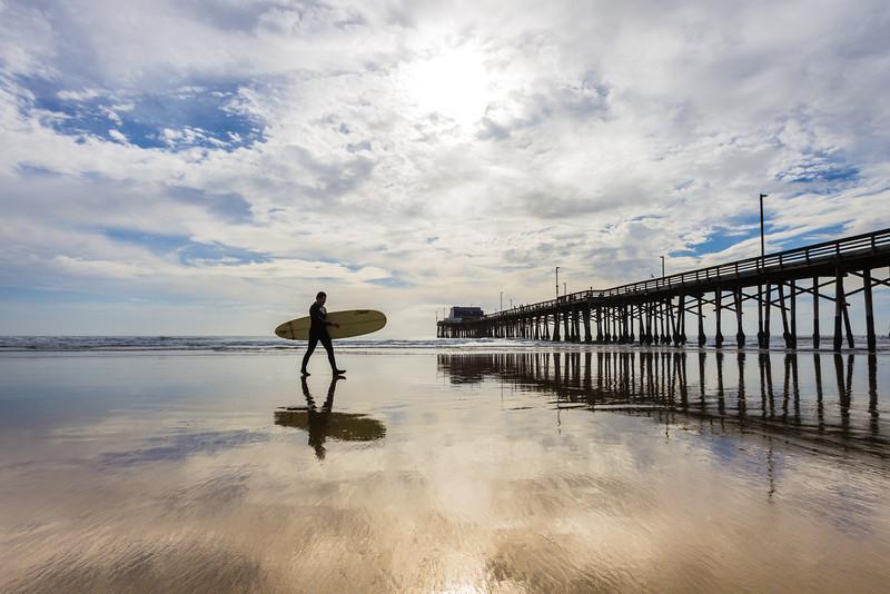 Surfer at Newport Beach