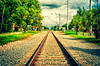 Go North Young Man.<br /> On the railway line, in Delray Beach, FL.