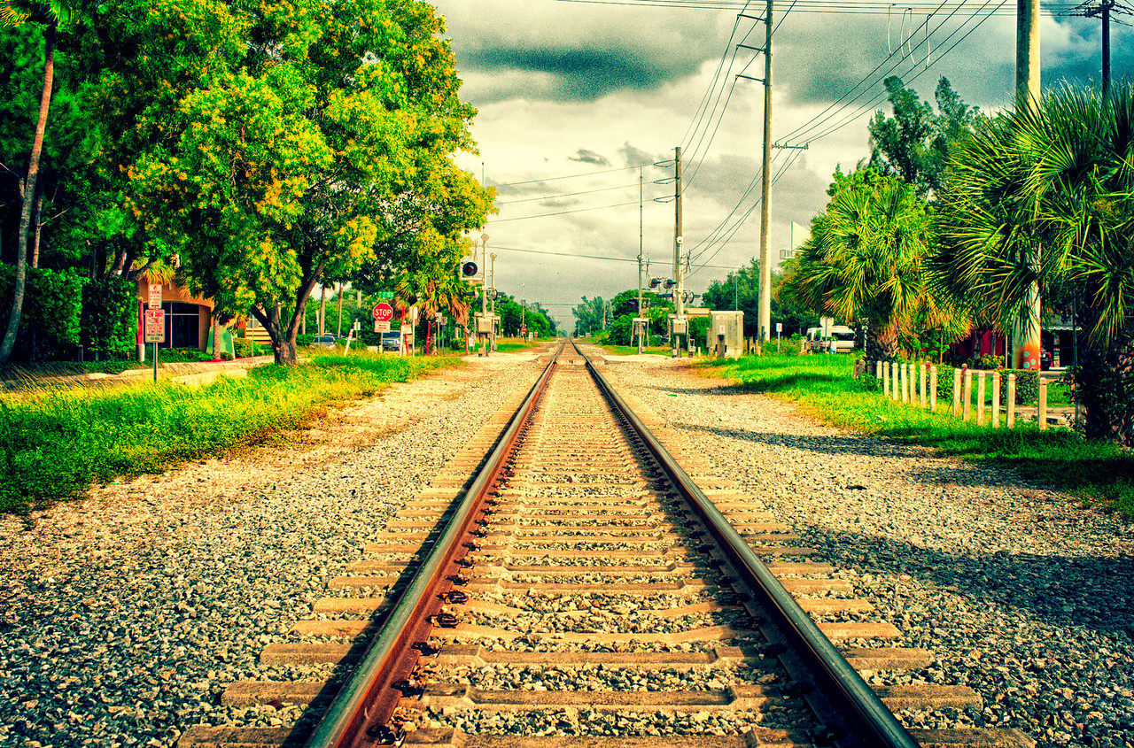 Go North Young Man. On the railway line, in Delray Beach, FL.