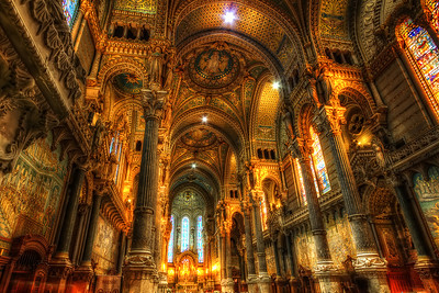Notre Dame de Fourvière. Follow me on my -Facebook page:   Girolamo's HDR photos -Google+ page: Girolamo Cracchiolo -My Blog: Girolamo's HDR Photos - Le blog -My eBook: Travel in HDR