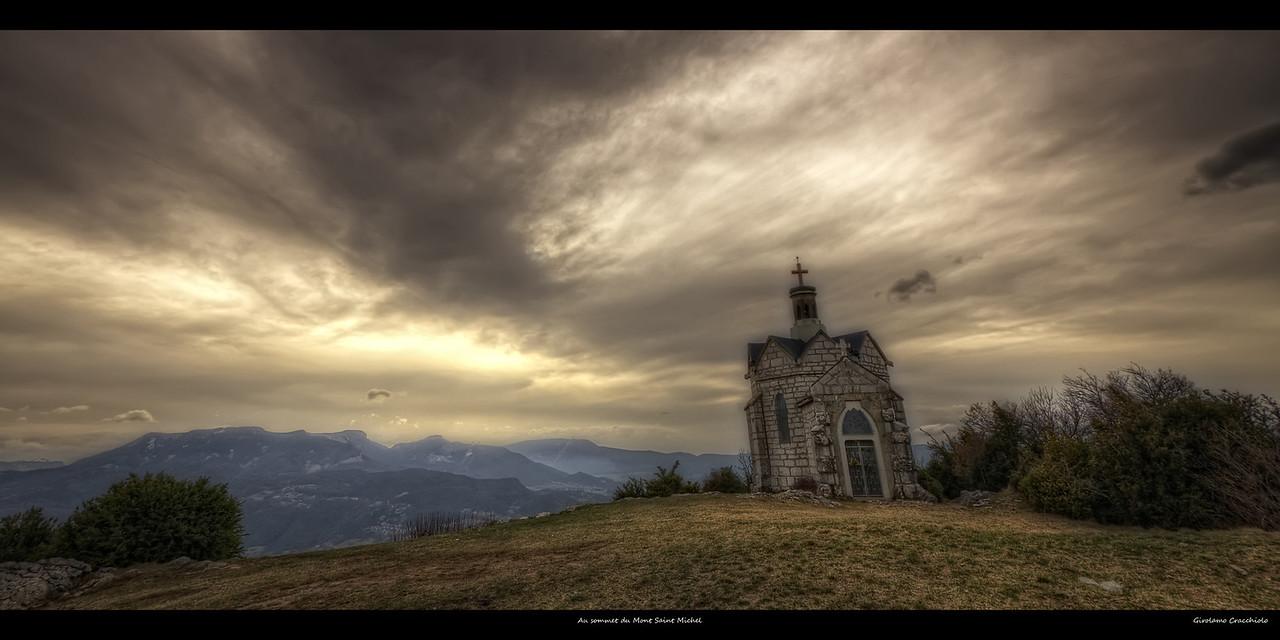 Au sommet du Mont Saint Michel