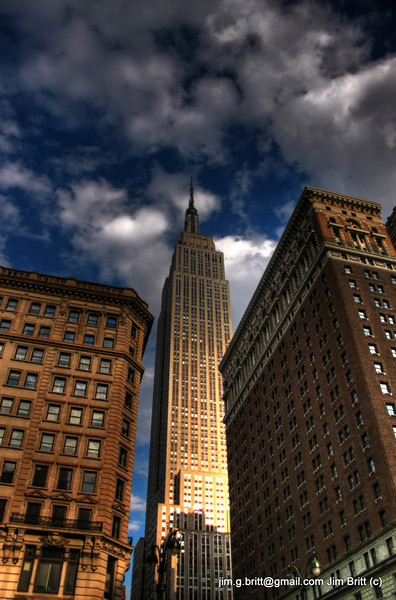 Empire State Building in New York City.  So many cool buildings to photograph out there.  A definite contrast to home.