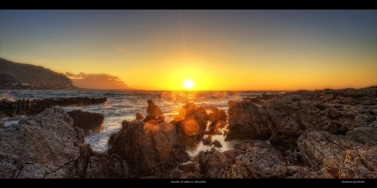 Coucher de soleil sur Barcarello