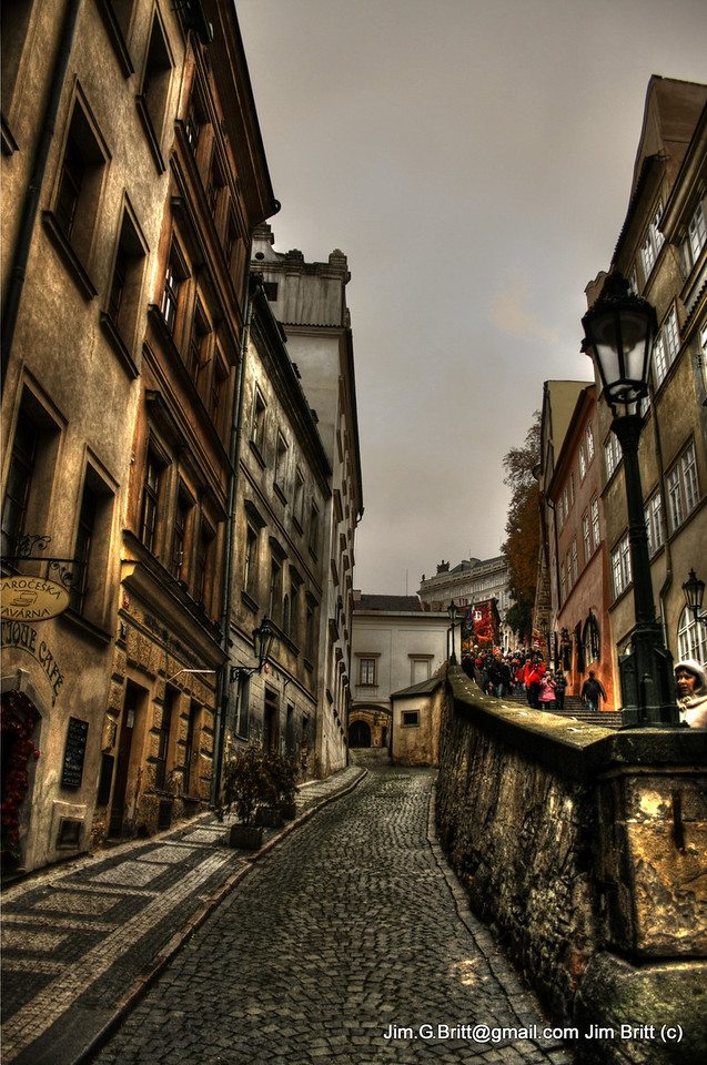 """The side street - Prague CZ  <a href=""""http://blogging.gelle.dk/2008/12/09/inxs-videos-from-prague/"""">http://blogging.gelle.dk/2008/12/09/inxs-videos-from-prague/</a>) if you are in Prague you can see this video :).  I guess because it was filmed in Prague it isn't available for viewing in the US (very weird).  Anyway this street is in an INXS video...a lot of Prague is."""