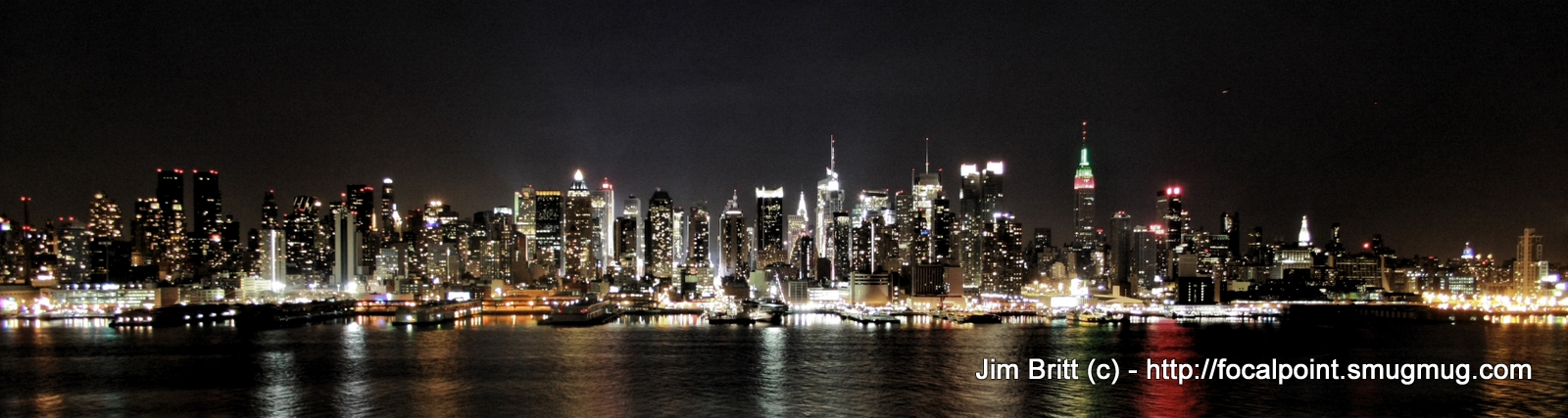 New York City Skyline.  Taken on a recent trip to New Jersey.