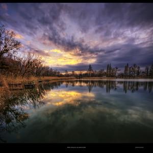 Matin d'hiver au lac Saint André