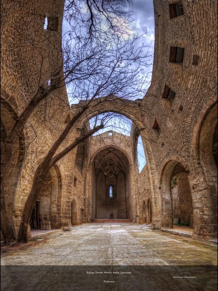 """Eglise Santa Maria dello Spasimo Follow me on my -Facebook page:   <a href=""""http://www.facebook.com/pages/Girolamos-HDR-Photography/176753345698682"""" rel=""""nofollow    me"""">Girolamo's HDR photos</a> -Google+ page: <a href=""""https://plus.google.com/108629717769018996477"""" rel=""""nofollow    me"""">Girolamo Cracchiolo</a> -My Blog: <a href=""""http://girolamohdrphotos.wordpress.com/"""" rel=""""nofollow    me"""">Girolamo's HDR Photos - Le blog</a>"""