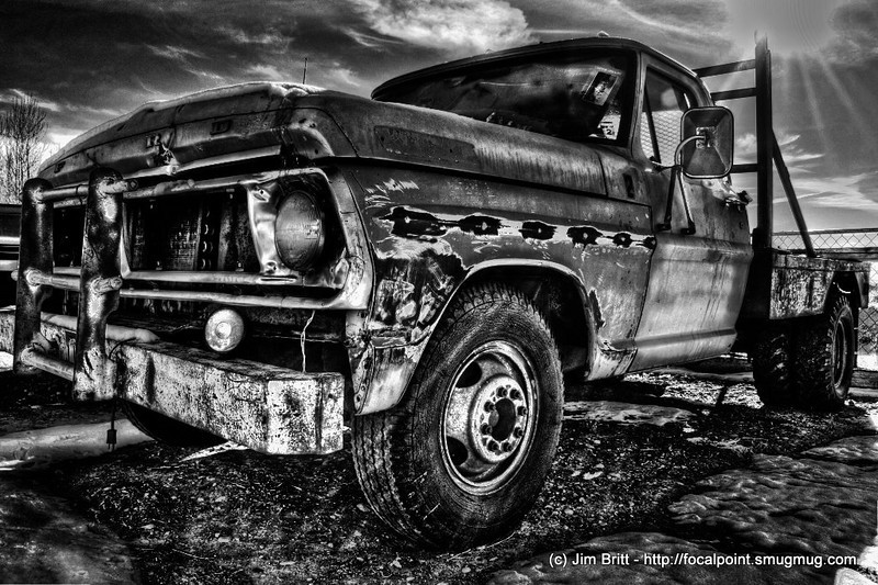 Old Ford (HDR) Black and White.  This shot was taken over Thanksgiving this last year '09.  Converted to HDR and then converted to B/W.  Enjoy.  Happy New Year!