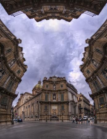 Quattro canti. Follow me on my -Facebook page:   Girolamo's HDR photos -Google+ page: Girolamo Cracchiolo -My Blog: Girolamo's HDR Photos - Le blog -My eBook: Travel in HDR