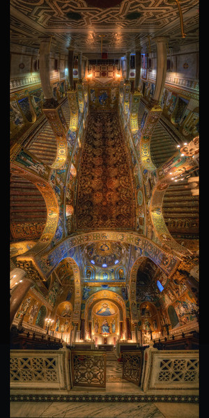 La chapelle Palatine (complete vertorama) Follow me on my -Facebook page:   Girolamo's HDR photos -Google+ page: Girolamo Cracchiolo -My Blog: Girolamo's HDR Photos - Le blog