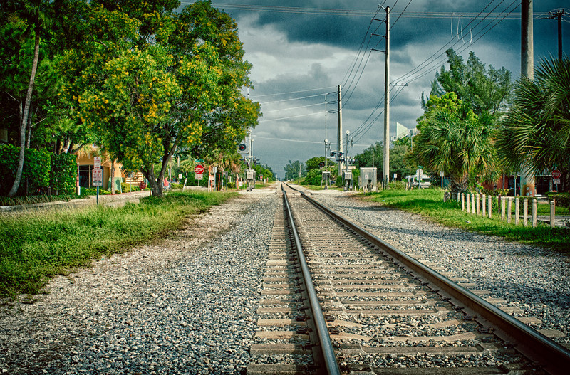 On the Tracks in Delray Beach. On the railway line, in Delray Beach, FL.