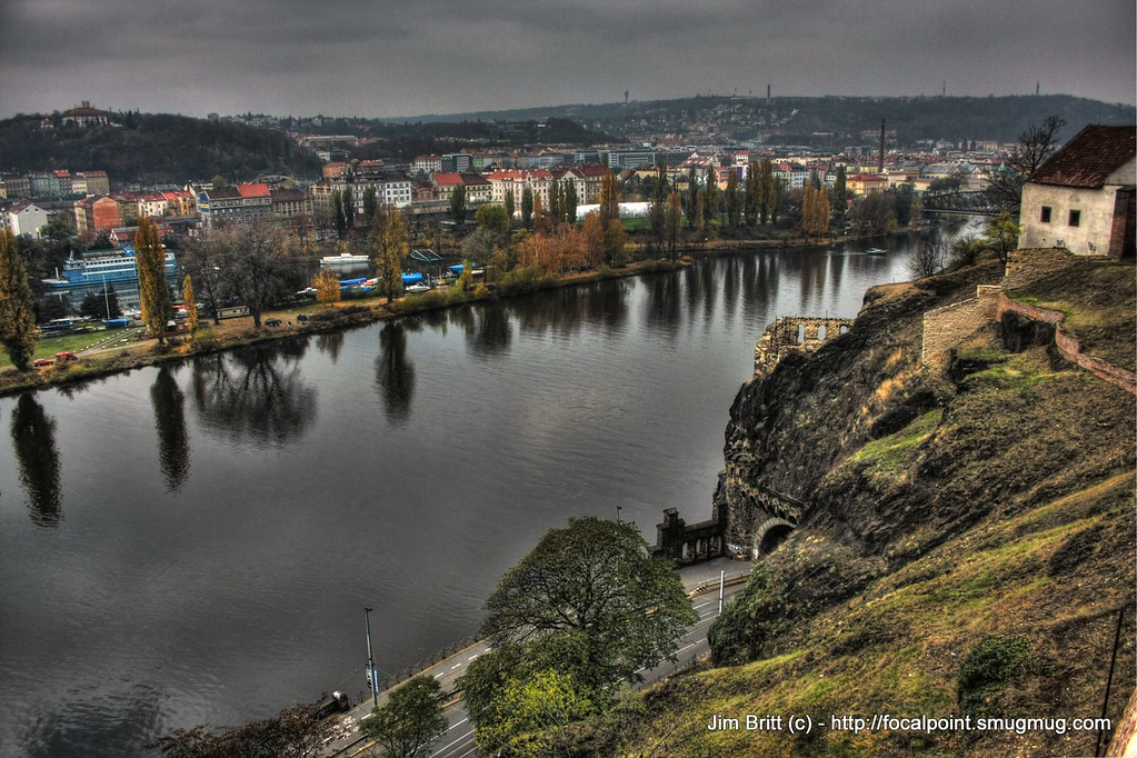 """Prague CZ - a story about the overlook above the tunnel can be found here: <a href=""""http://www.myczechrepublic.com/prague/history/prague_legends.html"""">http://www.myczechrepublic.com/prague/history/prague_legends.html</a> talking about a legend of a man and his horse jumping into the stream."""
