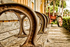 Take a Seat. Old bench, at the old train station, now a hisorical landmark, Delray Beach, FL.