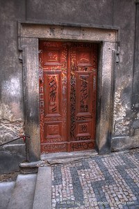The eccentric red door - Prague CZ