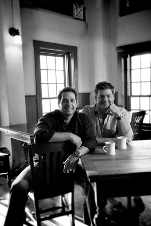 Portrait of Paula Deen's sons, Jamie and Bobby for Savannah Magazine