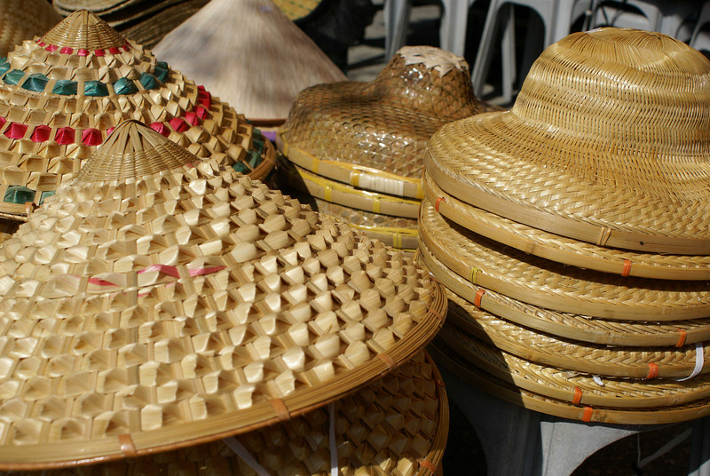 CHINESE HATS. LANTAU. HONG KONG. CHINA.