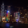 HONG KONG BY NIGHT. VIEW FROM KOW LOON.