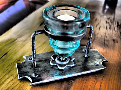 Custom Wrought Iron + Glass CandleArt - PEC, Ontatio Canada