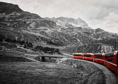 'Bernina Express' - south of Chur, Switzerland