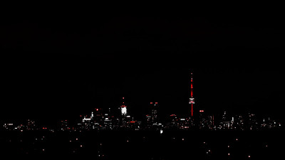 Toronto Skyline at Night - Toronto CANADA