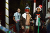 One of my favorite costumes at the Halloween party I was at in Ann Arbor, Michigan, was the half-naked skier guy with the camcorder duct tape to his helmet. The cat in the hat is holding onto his ski as he's about to take a swig ! Luther Co-op, ICC; Halloween 2015