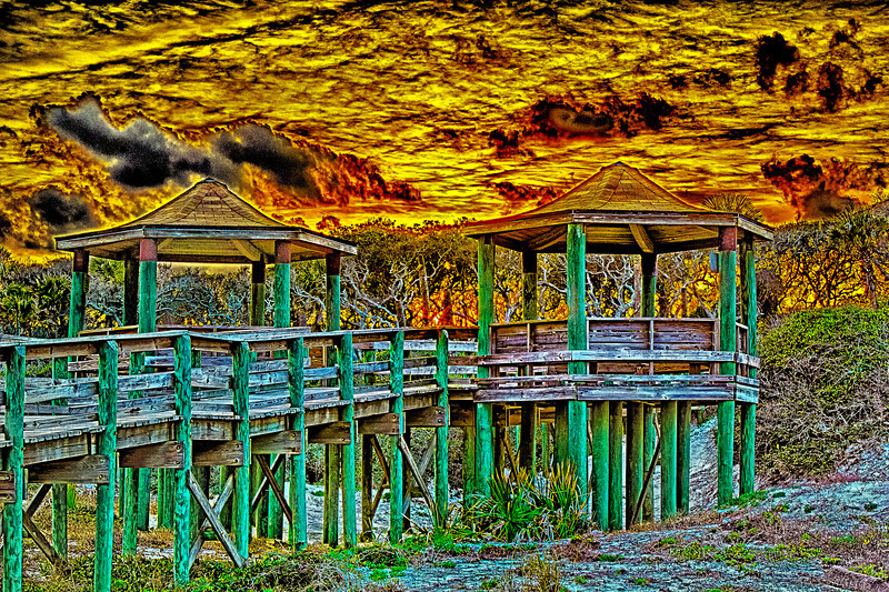 Sunset Twin Shelters Hanna Park. Nik HDR Pro 2. One extreme to another what you see what you feel while developing just like the film days but without the chemicals even though some may think there are chemicals somewhere. The deal is get the light you can harness from the tools you have. But remember there is no light behind me to brighten anything up it is what is in the raw files that you can extract and what you think you really saw. I know I saw this not what is to the left, ya just can not fake it the raw files do not lie.