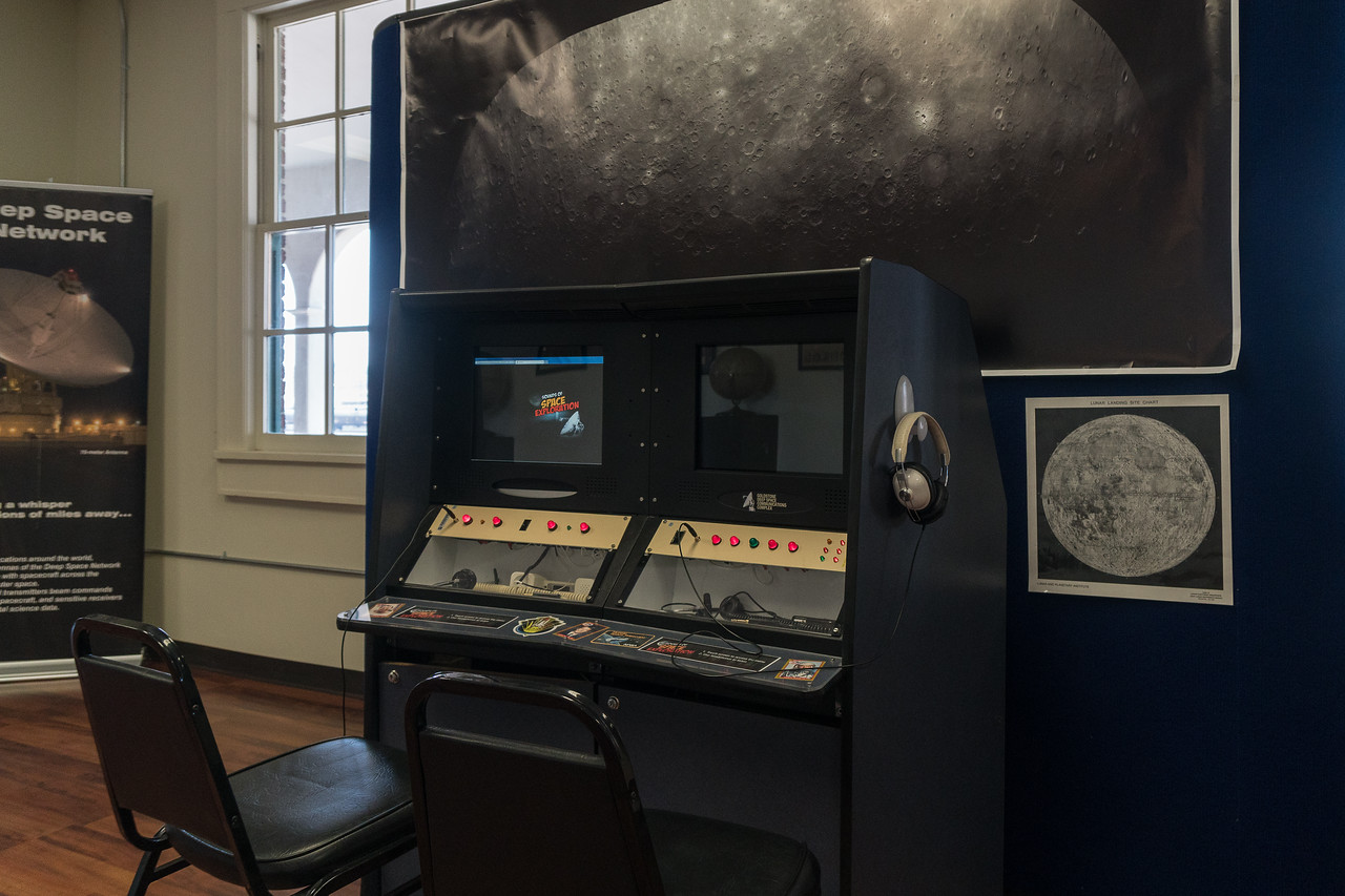 Interactive station where one could listen to sounds at Harvey House